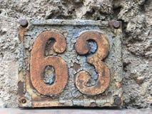 Hausplatte 63 Lizenzfreies Stockfoto