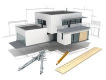 Hausprojekt Stockbild