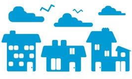 Hausschattenbilder Vektor Abbildung