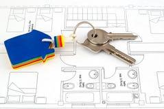 Hausschlüssel lizenzfreie stockfotografie