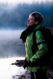 Hausse au lac image stock