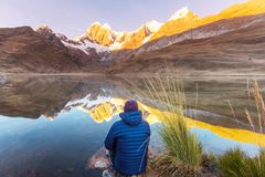 Hausse au Pérou image stock