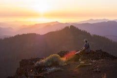 Hausse d'Iron Mountain en Orégon Photographie stock libre de droits