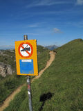 Hausse dans Bernese Oberland Photo libre de droits