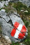 Hausse dans l'aeria de montagne de Rofan au Tyrol (Autriche) image libre de droits