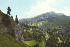 Hausse dans l'aeria de montagne de Rofan au Tyrol (Autriche) images libres de droits