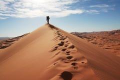 Hausse dans le désert photographie stock libre de droits