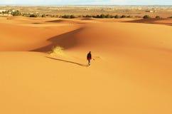 Hausse dans le désert Image stock