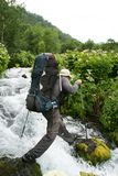 Hausse dans le Kamtchatka photographie stock libre de droits