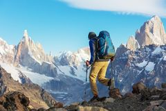 Hausse dans le Patagonia photographie stock
