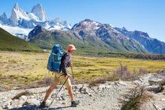 Hausse dans le Patagonia photo stock