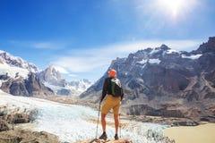Hausse dans le Patagonia images libres de droits