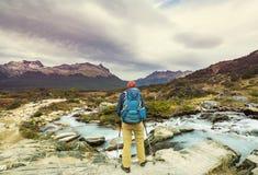 Hausse dans le Patagonia image stock