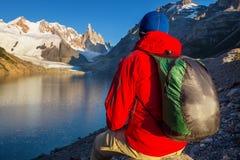 Hausse dans le Patagonia image libre de droits