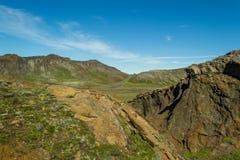 Hausse dans le pays géothermique Photo libre de droits