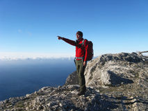 Hausse dans les montagnes Photographie stock libre de droits