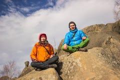 Hausse dans les montagnes Photo libre de droits