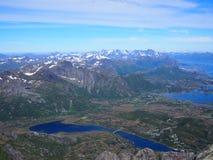 Hausse dans les montagnes de Lofoten Norvège Image libre de droits