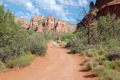 hausse de désert d'enfants de l'Arizona Photographie stock libre de droits