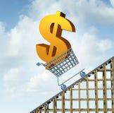Hausse de devise du dollar Images libres de droits