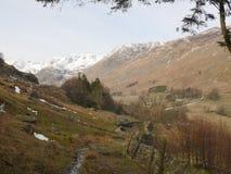 Hausse de Helvellyn au secteur de lac, Cumbria, Angleterre R-U image libre de droits