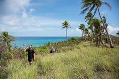 Hausse de l'île tropicale de Dravuni Photos stock