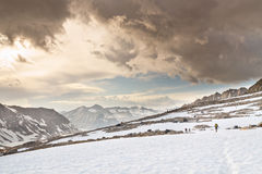 Hausse de l'aventure en sierra Nevada photo libre de droits