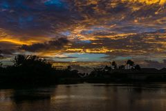 Hausse de lagune de Kauai Photographie stock