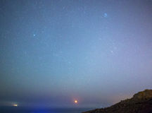Hausse de lune Photo libre de droits