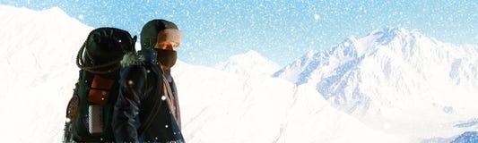 Hausse de montagne Photo stock