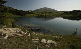 Hausse de soleil en parc national de Banff Images stock