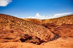 Hausse du canyon grand de voyage images libres de droits