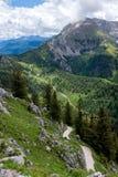 Hausse du chemin dans les Alpes photos stock