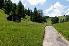 Hausse du chemin dans les Alpes images libres de droits