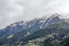 Hausse du chemin dans les alpes juliennes Photos stock