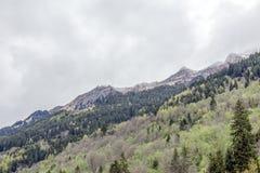 Hausse du chemin dans les alpes juliennes Image libre de droits