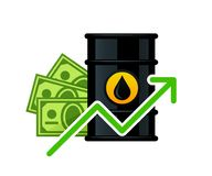Hausse du prix d'huile de baril illustration libre de droits
