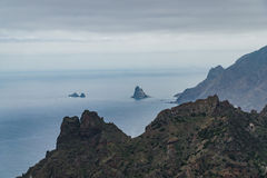 Hausse du voyage dans les montagnes d'Anaga près de Taborno sur l'île de Ténérife Image stock