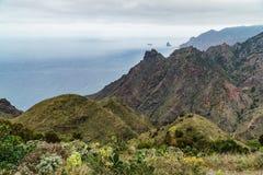 Hausse du voyage dans les montagnes d'Anaga près de Taborno sur l'île de Ténérife Image libre de droits