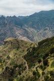Hausse du voyage dans les montagnes d'Anaga près de Taborno sur l'île de Ténérife Images libres de droits