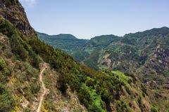 Hausse du voyage dans les montagnes d'Anaga près de Taborno sur l'île de Ténérife Photo stock
