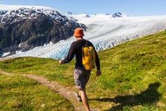 Hausse en glacier de sortie Images libres de droits