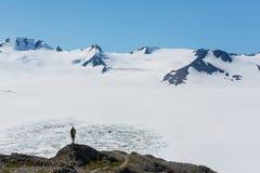 Hausse en glacier de sortie Photographie stock libre de droits