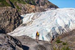 Hausse en glacier de sortie Photo libre de droits