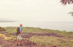 Hausse en Hawaï Photographie stock