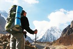 Hausse en montagne photos libres de droits