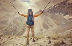 Hausse en montagnes de Fann photo stock