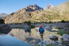 Hausse en montagnes de Fann photographie stock