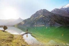 Hausse en montagnes de Fann photographie stock libre de droits