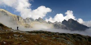 Hausse en montagnes de Tatra Images libres de droits